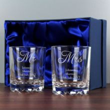 Personalised Mr & Mrs Pair of Tumblers P0107D68
